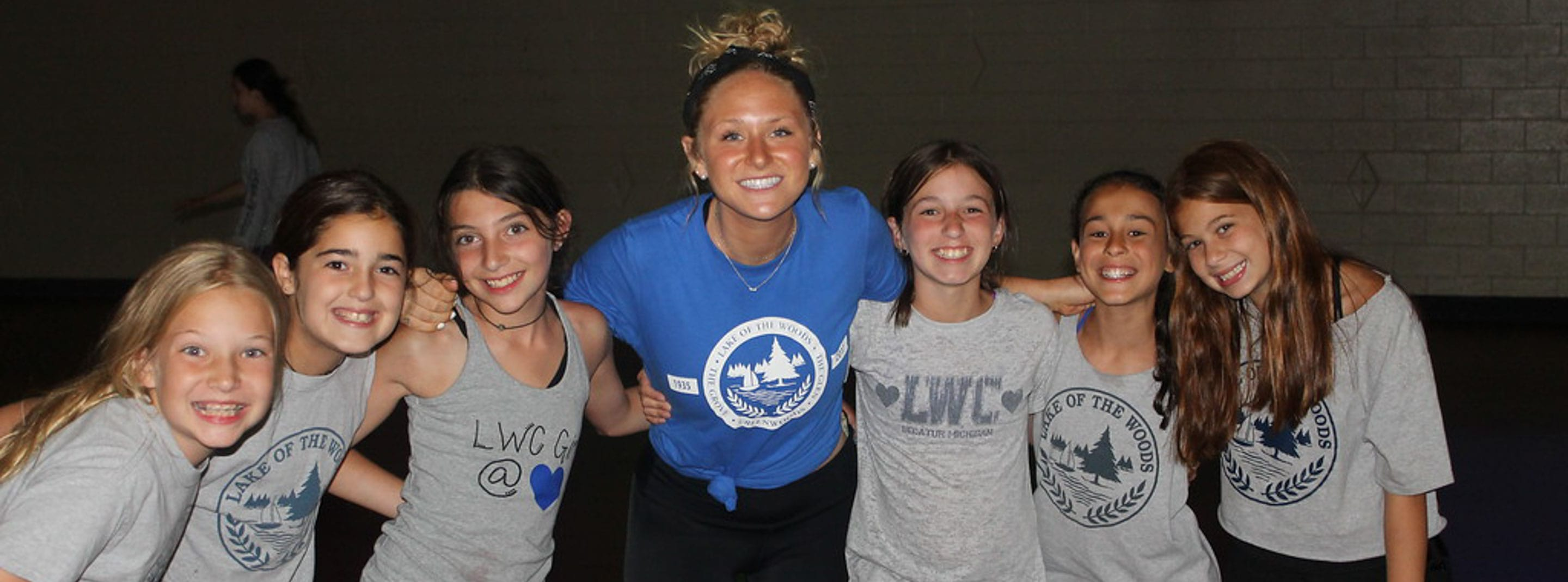Madison Mueller with campers